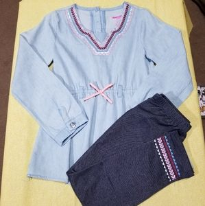 Girls 6 tunic & legging set